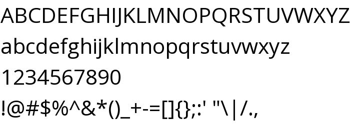 Open Sans - скачать шрифт бесплатно на AllFont ru
