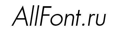 Шрифт a_FuturicaBs LightItalic